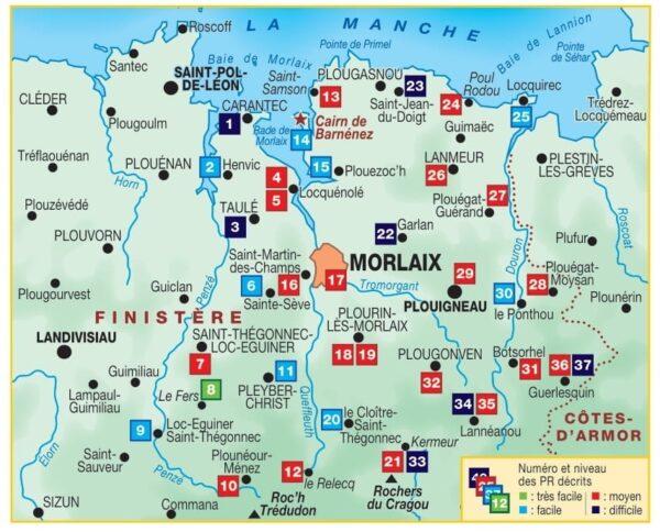 P298  Le Pays de Morlaix   wandelgids 9782751411434  FFRP Topoguides  Wandelgidsen Bretagne
