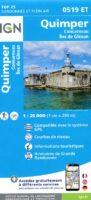 0519ET  omgeving Quimper, Concarneau | wandelkaart 1:25.000 9782758541011  IGN IGN 25 Bretagne  Wandelkaarten Bretagne