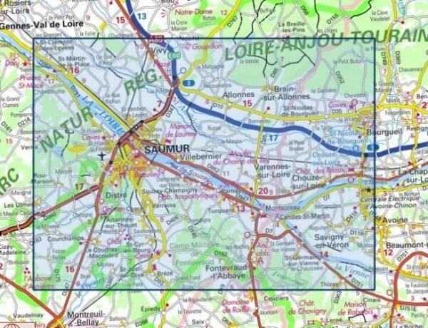 1623ET  Saumur, Bourgueil, Fontevraud-l'Abbaye   wandelkaart 1:25.000 9782758546382  IGN IGN 25 Centre/Loire/Atlantique  Wandelkaarten Loire & Centre