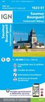 1623ET  Saumur, Bourgueil, Fontevraud-l'Abbaye | wandelkaart 1:25.000 9782758546382  IGN IGN 25 Centre/Loire/Atlantique  Wandelkaarten Loire & Centre