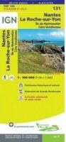 SV-131  Nantes, La Roche-sur-Yon | omgevingskaart / fietskaart 1:100.000 9782758547556  IGN Série Verte 1:100.000  Fietskaarten, Landkaarten en wegenkaarten Vendée, Charente