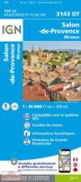 3143OT Salon-de-Provence, Miramas | wandelkaart 1:25.000 9782758551577  IGN IGN 25 Provence  Wandelkaarten Provence, Marseille, Camargue
