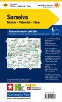 KFW-20  Surselva   wandelkaart / overzichtskaart 9783259022207  Kümmerly & Frey Wandelkaarten Zwitserland  Wandelkaarten Graubünden
