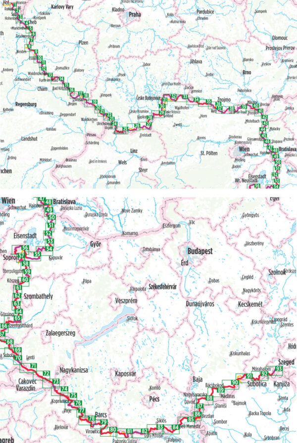Bikeline Iron Curtain Trail    fietsgids van Hof naar Szeged 9783850007276  Esterbauer Bikeline  Fietsgidsen, Meerdaagse fietsvakanties Europa