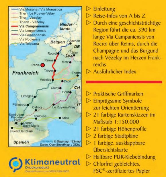 Via Campaniensis (Jakobsweg) | wandelgids 9783866866843  Conrad Stein Verlag Outdoor - Der Weg ist das Ziel  Santiago de Compostela, Wandelgidsen Noordoost-Frankrijk