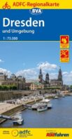 Dresden & omgeving | fietskaart 1:75.000 9783870737504  ADFC / BVA ADFC Regionalkarte  Fietskaarten Dresden, Sächsische Schweiz, Elbsandsteingebirge, Erzgebirge