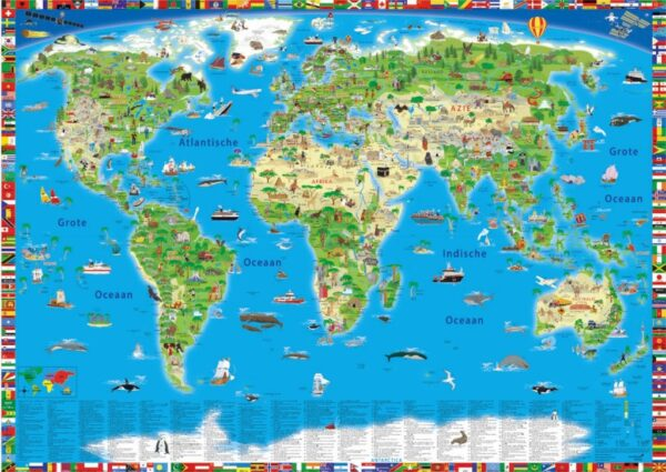 Bureau Onderlegger - Wereldkaart 9783946040330  Krüger & Schönhoff   Kinderboeken, Wandkaarten Wereld als geheel