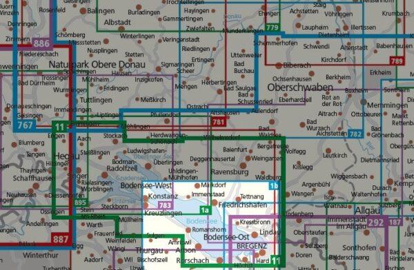 KP-1b Bodensee Ost | Kompass wandelkaart 1:50.000 9783990448847  Kompass Wandelkaarten Kompass Duitsland  Wandelkaarten Bodenmeer, Schwäbische Alb