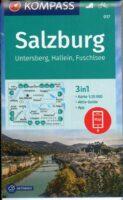 KP-017 Salzburg und Umgebung | Kompass wandelkaart 9783990448878  Kompass Wandelkaarten Kompass Oostenrijk  Wandelkaarten Salzburg, Karinthië, Tauern, Stiermarken