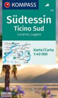 KP-111 Tessin-Süd 1:40.000   Kompass wandelkaart 9783991210139  Kompass Wandelkaarten Kompass Zwitserland  Wandelkaarten Tessin, Ticino