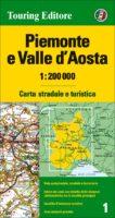 TCI-01  Piemonte / Aosta 1:200.000 9788836576395  TCI Italië Wegenkaarten  Landkaarten en wegenkaarten Aosta, Gran Paradiso, Turijn, Piemonte