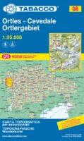 TAB-008  Gruppo Ortles - Cevedale/ Ortlergruppe   Tabacco wandelkaart TAB-08 9788883151347  Tabacco Tabacco 1:25.000  Wandelkaarten Zuid-Tirol, Dolomieten