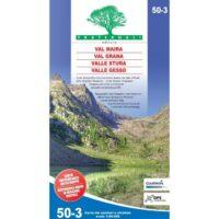 FRA50-3  Val Maira | wandelkaart 1:50.000 9788897465317  Fraternali Editore Fraternali 1:50.000  Wandelkaarten Turijn, Piemonte