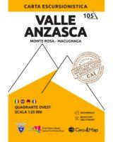 G4M-105 Valle Anzasca    wandelkaart 1:25.000 9788899606084  Geo4Map   Wandelkaarten Turijn, Piemonte