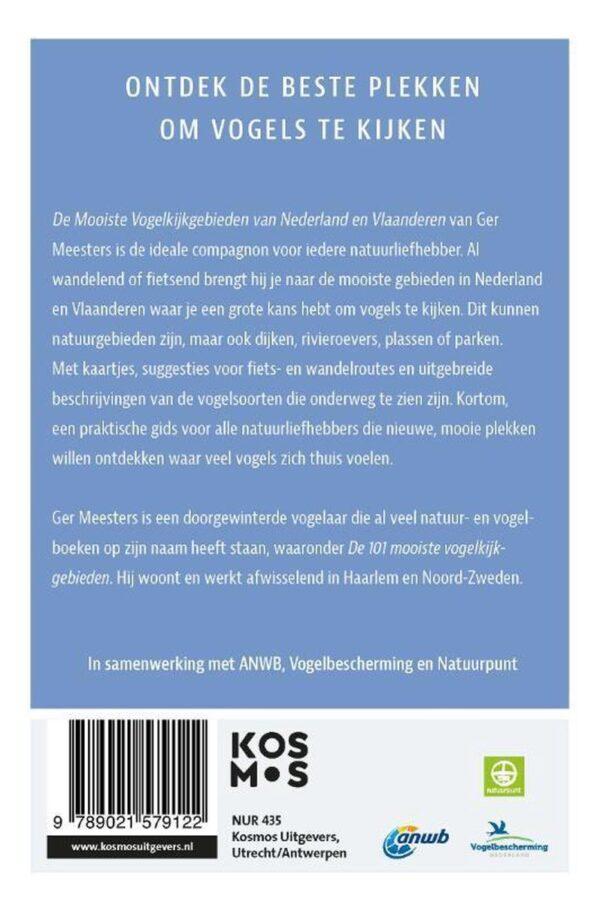 De mooiste vogelkijkgebieden van Nederland en Vlaanderen 9789021579122 Ger Meesters Kosmos   Natuurgidsen, Vogelboeken Nederland
