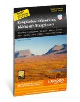 wandelkaart Kungsleden: Kebnekaise, Abisko & Riksgränsen 1:50.000 9789188335302  Calazo   Meerdaagse wandelroutes, Wandelkaarten Zweeds-Lapland (Norrbottens Län)