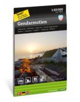 wandelkaart Gendarmstien LAW-route 1:30.000 9789188779922  Calazo   Meerdaagse wandelroutes, Wandelkaarten Fyn en de eilanden, Jutland