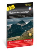 Pårte & Njoatsosvágge wandelkaart 1:25.000 9789189079311  Calazo Högalpina kartor  Wandelkaarten Zweden boven Uppsala