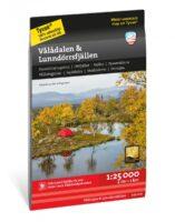 wandelkaart Vlådalen & Lunndörrsfjällen 1:25 000 9789189079793  Calazo Högalpina kartor  Wandelkaarten Midden Zweden