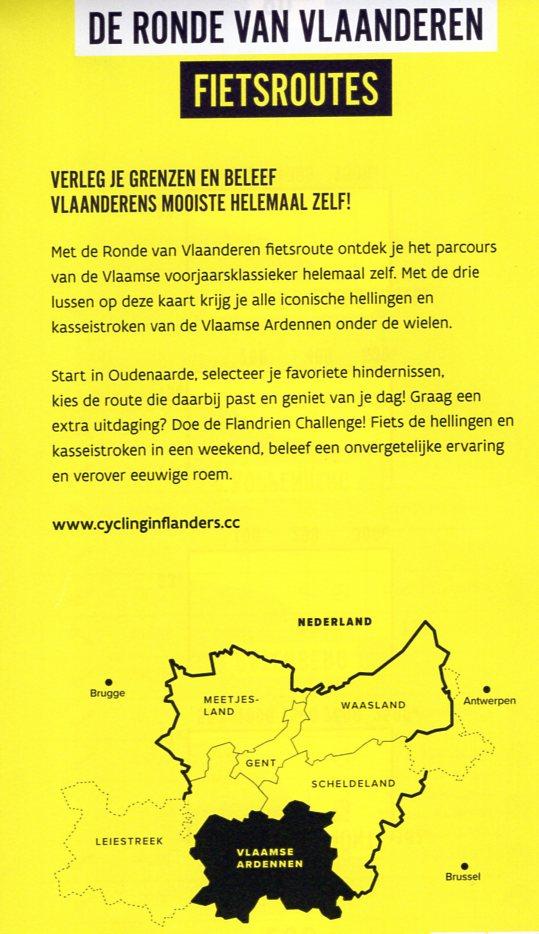Ronde van Vlaanderen fietskaart 1:50.000 9789491414145  Craenen   Fietskaarten, Meerdaagse fietsvakanties Vlaanderen