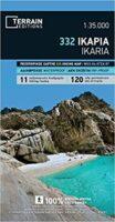 TM-332  Ikaria 1:35.000 9789609456128  Terrain Maps Northern Aegean Islands  Wandelkaarten Egeïsche Eilanden
