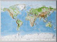 Reliëfkaart van de wereld (1:53mln.) 4280000664341  Georelief   Wandkaarten Wereld als geheel