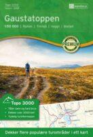 UG-3018 Gaustatoppen topografische wandelkaart 1:50.000 7040666030181  Nordeca / Ugland Topo 3000  Wandelkaarten Zuid-Noorwegen