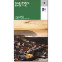 RM-4 Northern England, wegenkaart Noord-Engeland 9780319263761  Ordnance Survey Road Map 1:250.000  Landkaarten en wegenkaarten Northumberland, Yorkshire Dales & Moors, Peak District, Isle of Man