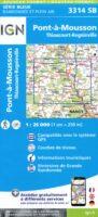 SB-3314SB Pont-à-Mousson, Thiaucourt-Regniéville 9782758541844  IGN IGN 25 Lotharingen  Wandelkaarten Lotharingen, Nancy, Metz