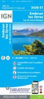 3438ET   Embrun, Lac de Serre-Ponçon | wandelkaart 1:25.000 9782758543282  IGN IGN 25 Franse Alpen/ zuidhelft  Wandelkaarten Franse Alpen: zuid