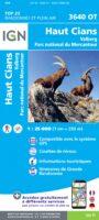 wandelkaart 3640OT Valberg, Haut Cians 1:25.000 9782758543350  IGN IGN 25 Franse Alpen/ zuidhelft  Wandelkaarten Mercantour, Alpes-Maritimes