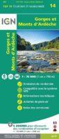 Monts d'Ardèche | IGN overzichts- en wandelkaart 9782758543961  IGN TOP 75  Fietskaarten, Wandelkaarten Ardèche, Drôme