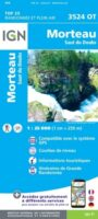 3524OT  Morteau, Gorges du Doubs   wandelkaart 1:25.000 9782758550280  IGN IGN 25 Jura (F)  Wandelkaarten Franse Jura
