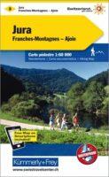 KFW-03  Franches Montagnes, Jura   wandelkaart / overzichtskaart 9783259022030  Kümmerly & Frey Wandelkaarten Zwitserland  Wandelkaarten Jura, Genève, Vaud