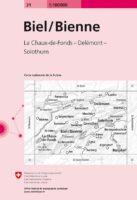 CH-31 omgeving Biel / Bienne overzichtskaart 1:100.000 9783302000312  Bundesamt / Swisstopo LKS 1:100.000  Landkaarten en wegenkaarten Jura, Genève, Vaud
