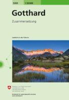 CH-5001  Gotthard [2020] 9783302050010  Bundesamt / Swisstopo Zusammensetzung 50T  Wandelkaarten Midden- en Oost-Zwitserland, Tessin, Ticino