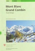 CH5003  Mont Blanc - Grand Combin [2019] 9783302050034  Bundesamt / Swisstopo Zusammensetzung 50T  Wandelkaarten Mont-Blanc, Chamonix, Wallis