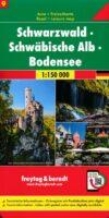 FBD-09 Zwarte Woud (Schwarzwald) 1:150.000 9783707918090  Freytag & Berndt F&B deelkaarten Duitsland  Landkaarten en wegenkaarten Zwarte Woud