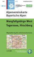 wandelkaart BY-13 Mangfallgebirge West 1:25.000 Alpenverein 9783937530642  Deutscher AlpenVerein Alpenvereinskarten  Wandelkaarten Beierse Alpen