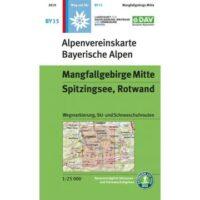 BY-15 Mangfallgebirge Mitte 1:25.000 Alpenvereinskarte 9783937530925  Deutscher AlpenVerein Alpenvereinskarten  Wandelkaarten Beierse Alpen