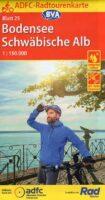 ADFC-25 Bodensee/Schwäbische Alb | fietskaart 1:150.000 9783969900048  ADFC / BVA Radtourenkarten 1:150.000  Fietskaarten Bodenmeer, Schwäbische Alb