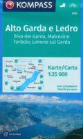 KP-690 Alto Garda e Ledro 1:25.000   Kompass wandelkaart 9783990443415  Kompass Wandelkaarten Kompass Italië  Wandelkaarten Gardameer