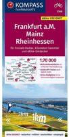 KP-3348 fietskaart Rheinhessen, Rheingau, Naheland, Mainz, schaal 1:70.000 9783990448052  Kompass   Fietskaarten Pfalz, Deutsche Weinstrasse, Rheinhessen