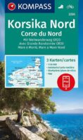 KP-2250 Kompass wandelkaart Noord-Corsica 1:50.000 9783990449530  Kompass Wandelkaarten   Wandelkaarten Corsica