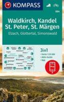 KP-884 Waldkirch, Kandel, St Peter   Kompass wandelkaart 1:25.000 9783991210634  Kompass Wandelkaarten Kompass Zwarte Woud  Wandelkaarten Zwarte Woud