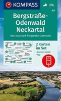 KP-827  Bergstrasse-Odenwald Neckartal | Kompass 9783991210726  Kompass Wandelkaarten Kompass Duitsland  Wandelkaarten München en omgeving, Odenwald, Spessart en Rhön