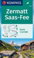 KP-117 Zermatt, Saas Fee | Kompass wandelkaart 9783991211037  Kompass Wandelkaarten Kompass Zwitserland  Wandelkaarten Wallis