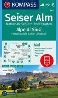 KP-067  Seiser Alm / Alpe di Siusi 1:25.000 9783991211105  Kompass Wandelkaarten Kompass Italië  Wandelkaarten Zuid-Tirol, Dolomieten