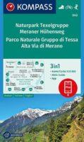 KP-043 Texelgruppe/Meraner Höhenweg   Kompass wandelkaart 9783991211556  Kompass Wandelkaarten Kompass Italië  Wandelkaarten Zuid-Tirol, Dolomieten