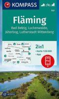 wandelkaart KP-747 Fläming | Kompass 9783991212232  Kompass Wandelkaarten Kompass Brandenburg / S.Anhalt  Wandelkaarten Brandenburg & Sachsen-Anhalt